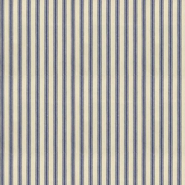 Ian Mankin Ticking Stripe 01 Indigo Tyg