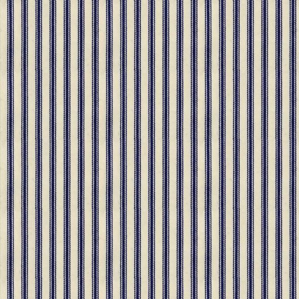 Ian Mankin Ticking Stripe 01 Navy Tyg