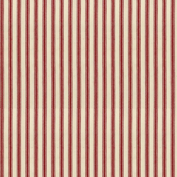 Ian Mankin Ticking Stripe 01 Peony Tyg