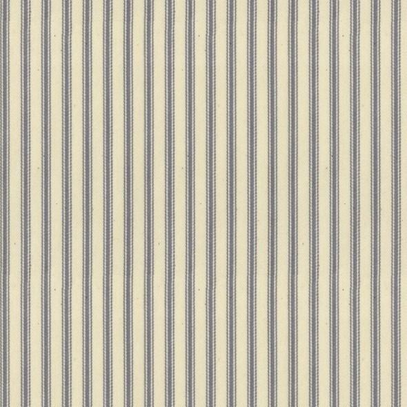 Ian Mankin Ticking Stripe 01 Silver Tyg