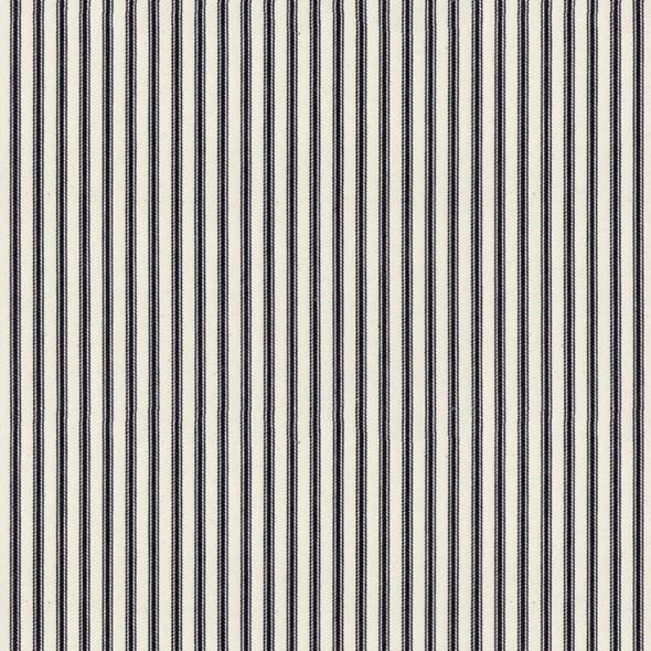 Ian Mankin Ticking Stripe 01 Dark Navy