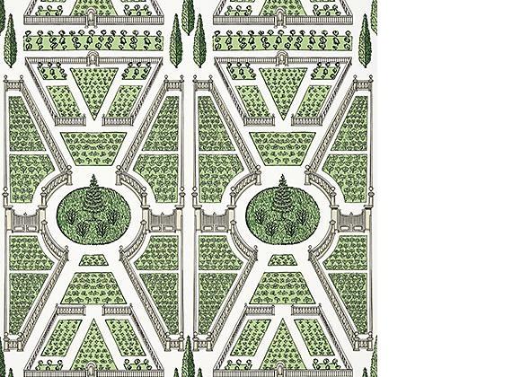 Anna French Aerial Garden Green
