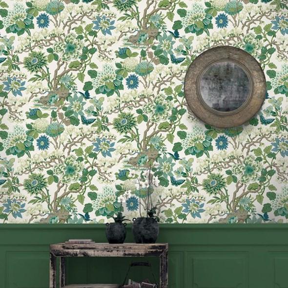 Baker Magnolia, Emerald/Teal Tapet