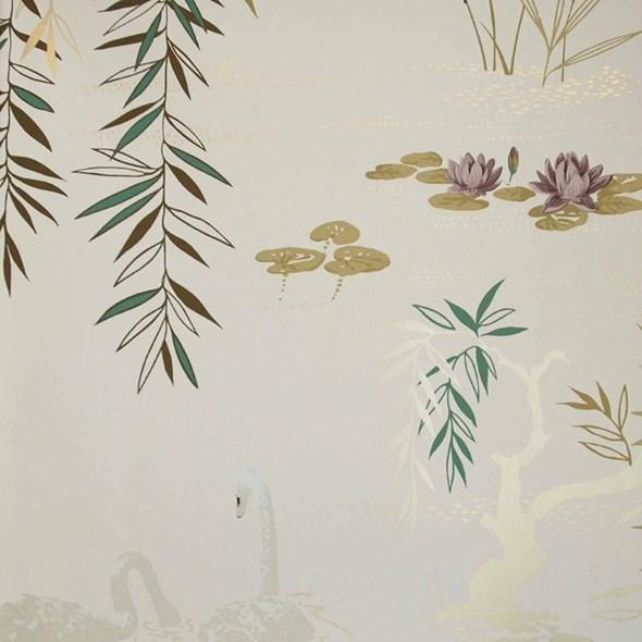 Nina Campbell Swan Lake Tapet