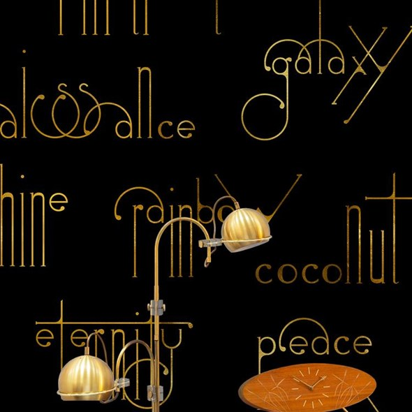 Coordonné Beautiful words, Onyx Tapet