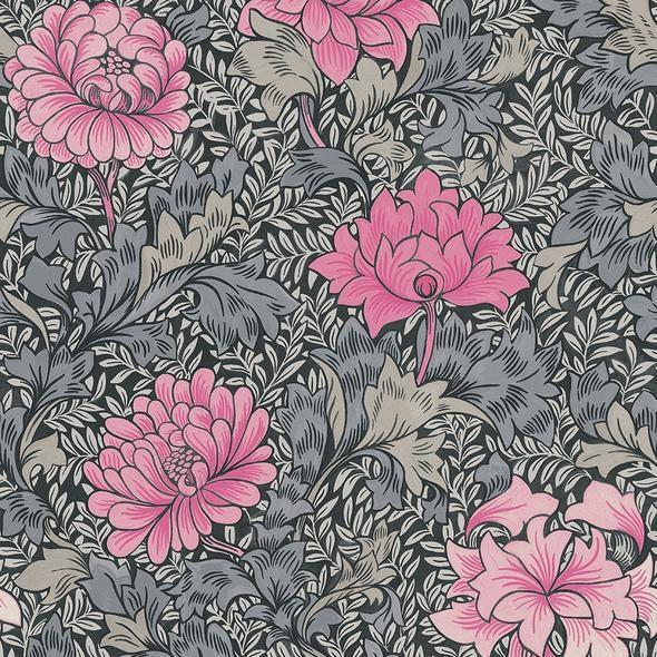 Carma Morrissey Flower, Raspberry Tapet