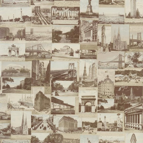Ralph Lauren New York Postcard Sepia