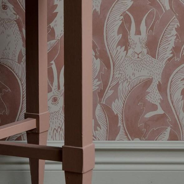 Långelid / von Brömssen Hares in hiding, rosa