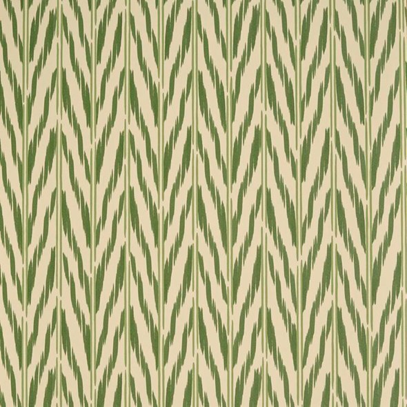 Helene Blanche Painted Ikat, Green Earth Tapet