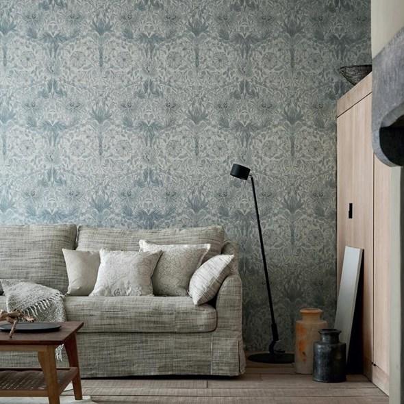 William Morris & co Pure Honeysuckle & Tulip Cloud Grey