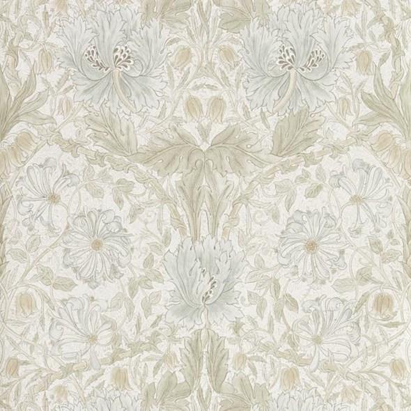 William Morris & co Pure Honeysuckle & Tulip Linen Tapet