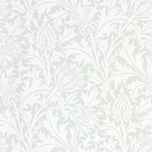 William Morris & co Pure Thistle Grey Blue Tapet