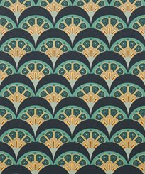 Liberty Deco Scallop, Jade Tapet