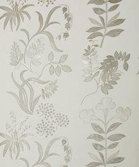 Liberty Botanical Stripe, Pewter White Tapet