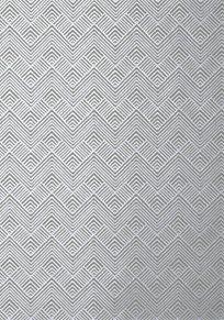 Thibaut Oslo Chevron Metallic Silver