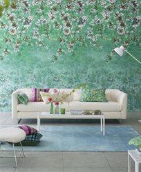 Designers Guild Assam Blossom Emerald Tapet