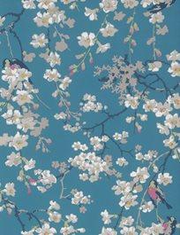 Little Greene Massingberd Blossom, Deep Blue Tapet