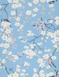Little Greene Massingberd Blossom, Pale Blue Tapet