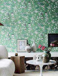 Little Greene Massingberd Blossom, Verditer Tapet