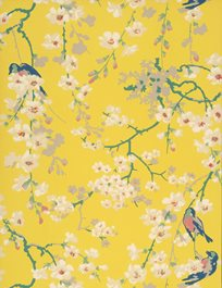 Little Greene Massingberd Blossom, Yellow Tapet