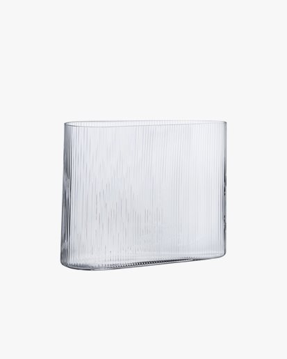 Nude Mist Vase Wide Clear