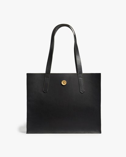 P.A.P Accessories Noelle Tote Bag Black Leather