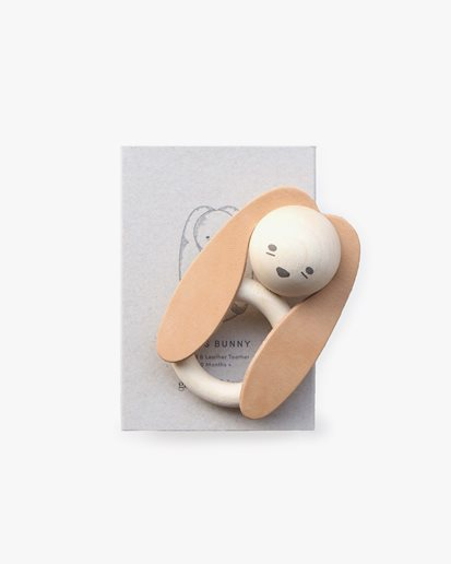 Garbo & Friends Bunny Wood & Leather Teether