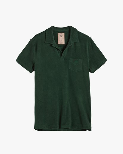 Oas Company Solid Terry Shirt Green