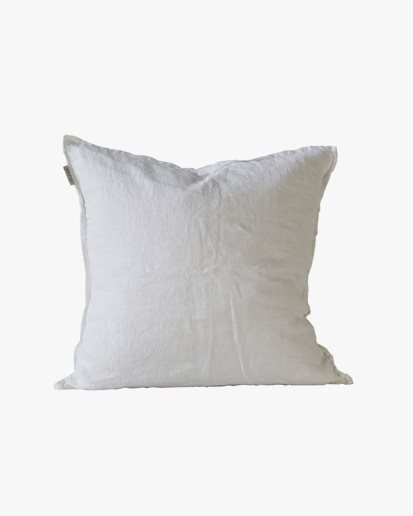 Tell Me More Cushion Cover Linen Bleached White 50x50