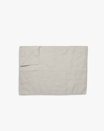 Tell Me More Placemat Linen Warm Grey
