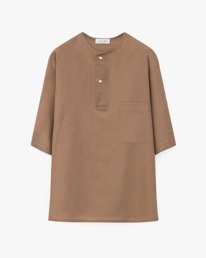 Lemaire Henley Top Taupe