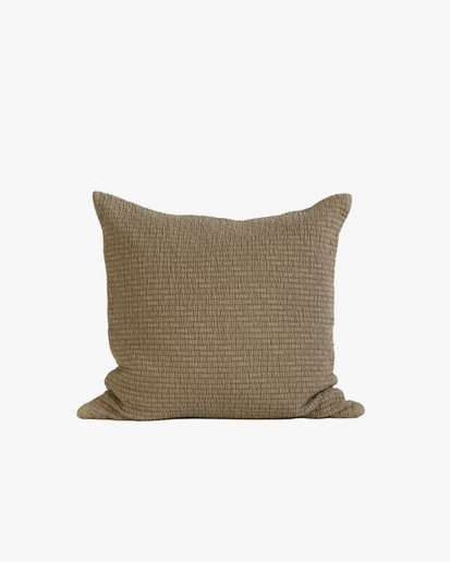 Tell Me More Brick Cushion Cover Olive
