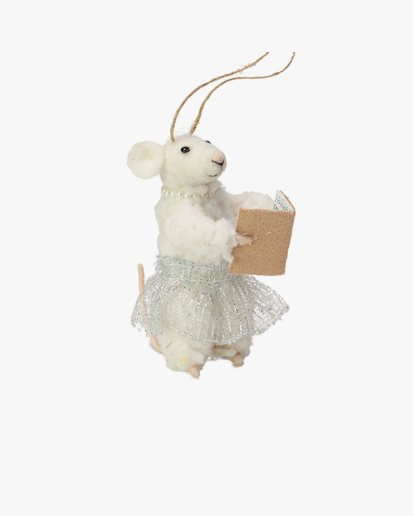 Olsson & Jensen Christmas Decoration Mouse With Psalm