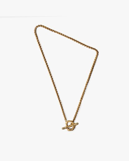 Avidue Crystal Necklace Gold