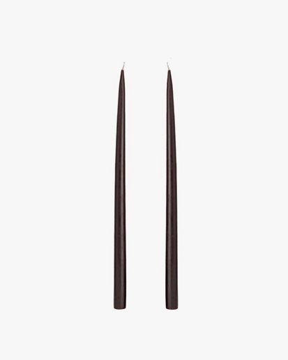 Kunstindustrien Hand Dipped Candle Chocolate Brown