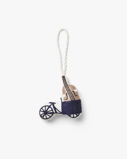 Ferm Living Embroidered Ornaments Bike