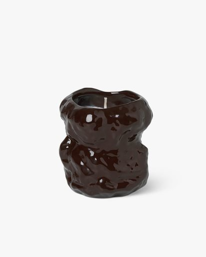 Ferm Living Tuck Scented Candle Red Brown