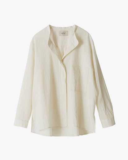 A Part Of The Art Airy Shirt Pale Vanilla