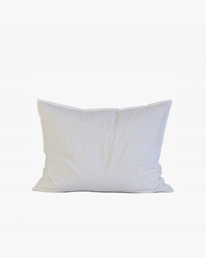 Tell Me More Pillowcase Organic Cotton 2-Pack Bleached White