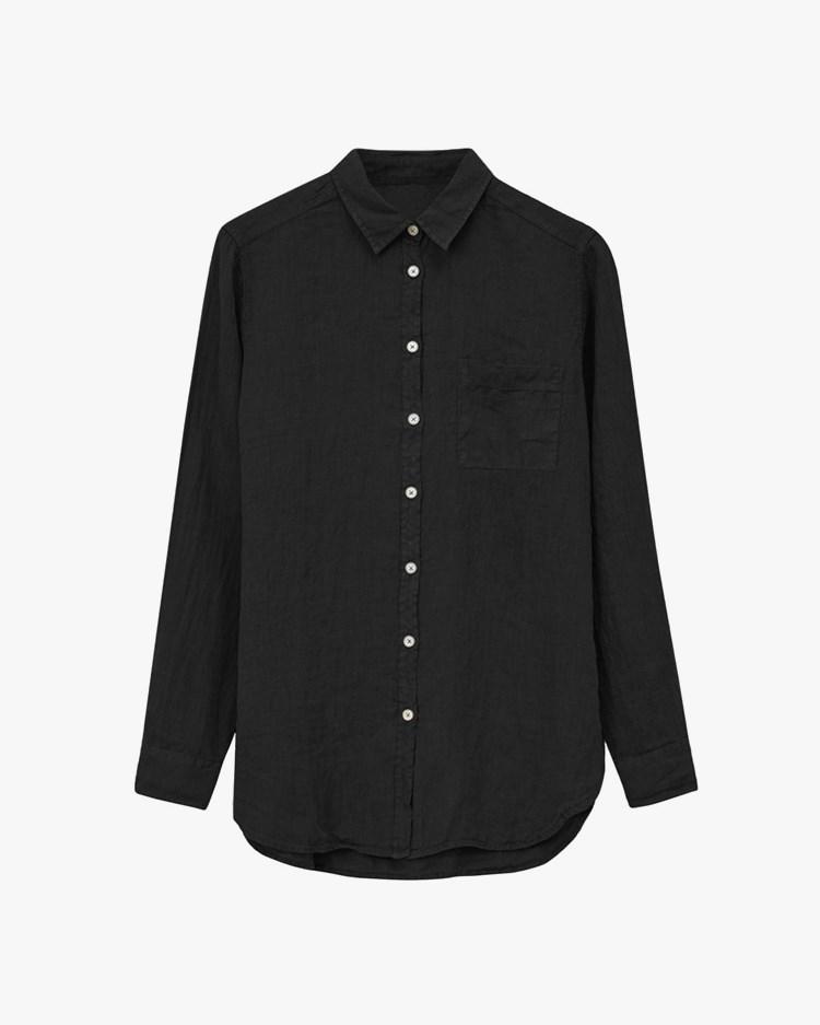 Vallgatan 12 Linen Shirt Black