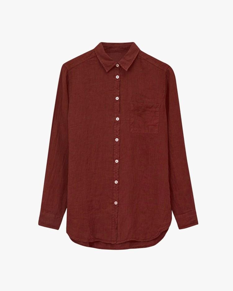 Vallgatan 12 Linen Shirt Red