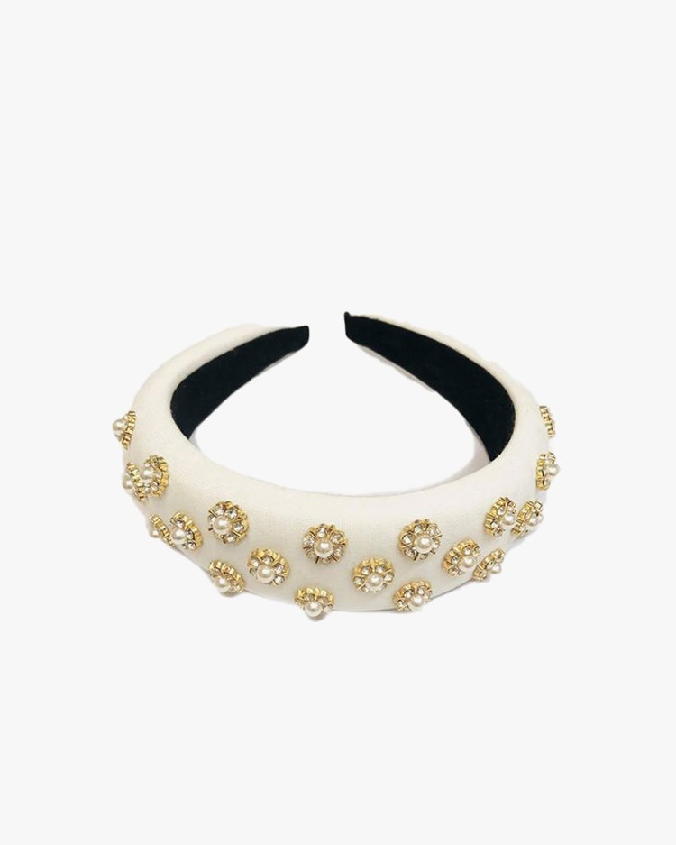 Pico Emma Headband Off White Pearl