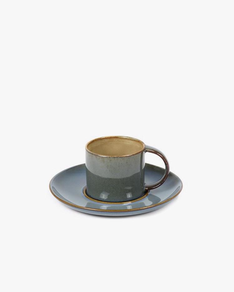 Serax Espresso Cup & Plate Misty Grey/Smokey Blue