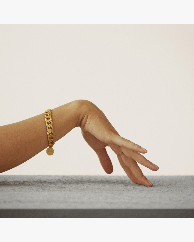 Nootka Jewelry Raw Bracelet Gold