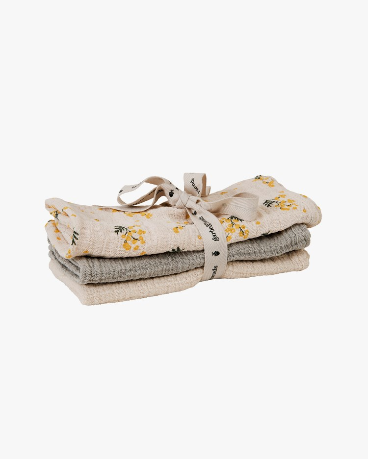 Garbo & Friends Muslin Burp Cloth 3-Pack Mimosa
