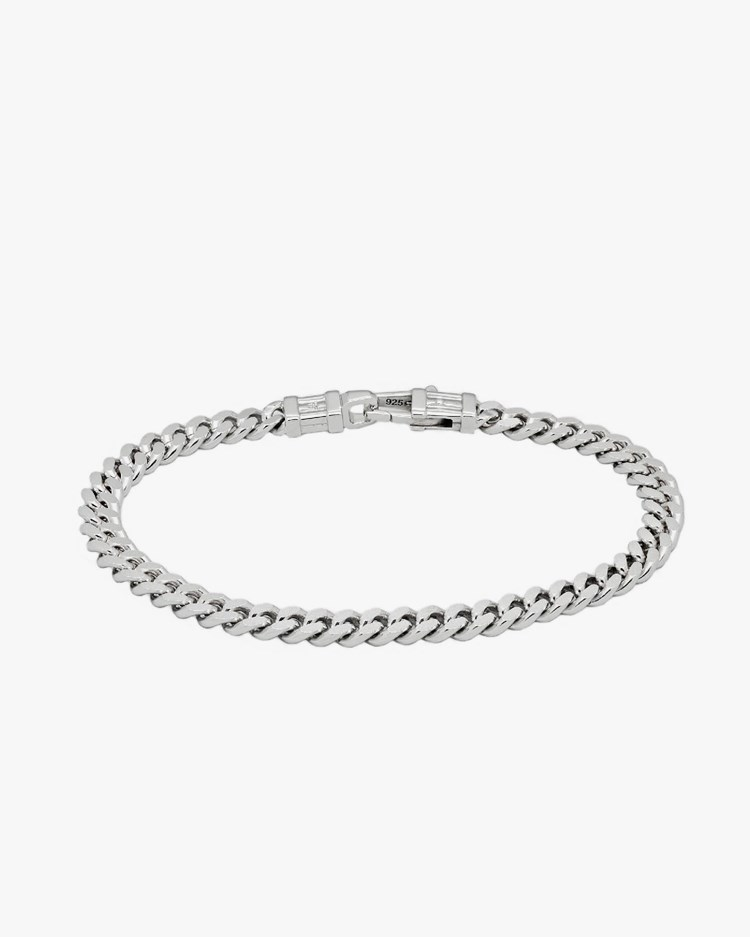 Tom Wood Curb Bracelet L Silver