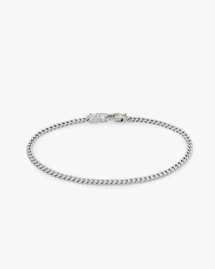 Tom Wood Curb Bracelet M Silver