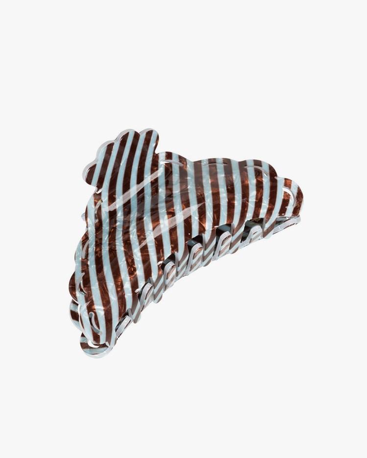 Pico Elly Hair Claw Mocca/Blue Stripe