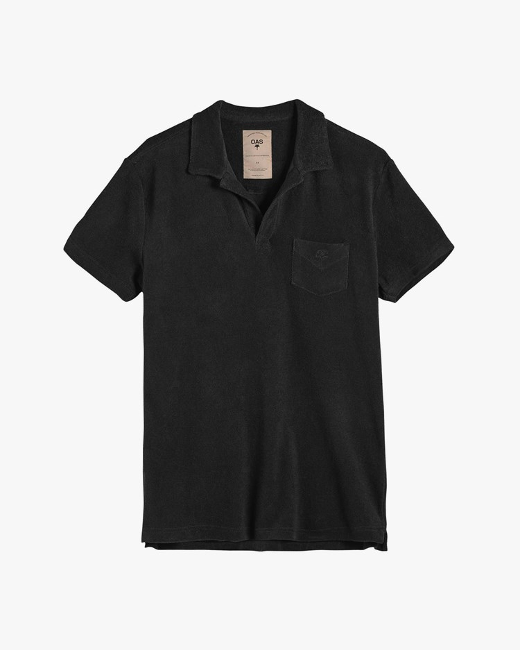 Oas Company Solid Terry Shirt Black