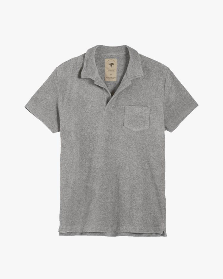 Oas Company Solid Terry Shirt Grey Melange